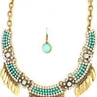 Join the Tribe Necklace: Turquoise