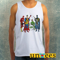 Justice League Rock Band Clothing Tank Top For Mens