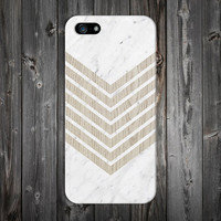 White Marble Chevron x Wood Design Case for iPhone 6 6 Plus iPhone 5 5s 5c iPhone 4 4s Samsung Galaxy s6 s5 s4 & s3 and Note 4 3 2