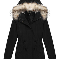 Casual Hooded Fur Collar Zipper Down Coat