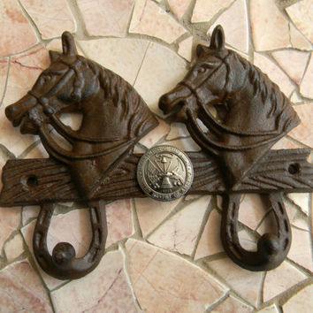 Cast Iron Army Double Wall Hook,US Army, Military Kids Room Home Decor, Military Gifts, Navy Decor, Coat Hanger, Army Dad, Rustic Towl Rack