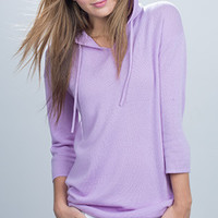 KINROSS CASHMERE PULLOVER HOODIE