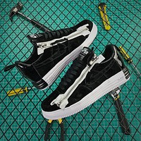 Acronym X Nike Lunar Force 1 Sp Black White Zip Up Fashion Shoes
