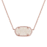 Elisa Rose Gold Pendant Necklace in Iridescent Drusy - Kendra Scott Jewelry