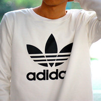 """Adidas"" All-match Casual Loose Men And Women  Thickened Cotton Sweater"