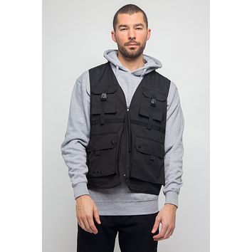 Utility Buckled Pocket Vest