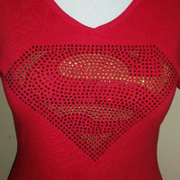 Limited Edition Red/Gold Superman logo T-shirt