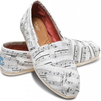 Music Notes Women's Classics | TOMS.com