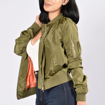 Picture Me Rollin' Jacket - Olive