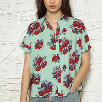 Minkpink Floral Print Romance Shirt at Urban Outfitters