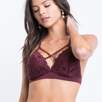X Front Lacey Bralette