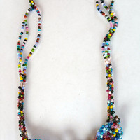 Cute Colorful Boho Necklace Spring and Summer Necklace Beaded Necklace Great for Beach Necklace