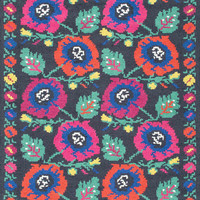 nuLOOM Hand Hooked Floral Daisy Charcoal Rug