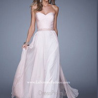 Strapless Sweetheart La Femme Formal Prom Gown 20527