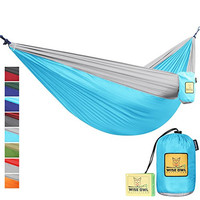 Hammock By Wise Owl Outfitters Double Camping Hammocks - Best Quality Gear For The Outdoors Backpacking Survival or Travel - Portable Lightweight Parachute Nylon