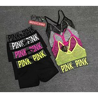 Victoria's Secret PINK Fitness Yoga vest underwear seamless sports suit