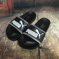 Black Puma Fenty Leadcat Slide Sandals