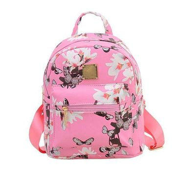 Floral Print casual shopping backpack school bags