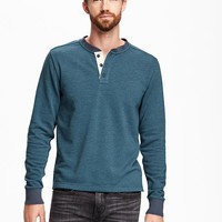 French-Terry Henley Sweatshirt for Men | Old Navy