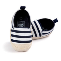 Baby Boy First Walkers Fashion Striped Canvas Baby Girl shoes Baby Shoes YTM NW