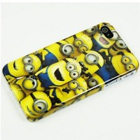 Fashion Digital Despicable Me Minion Yellow Plastic Hard Case Skin For Iphone 4 4G 4s