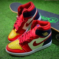 2018 Air Jordan 1 Retro High OG Basketball Shoes 555088-600 Sneaker - Sale