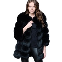 ZADORIN 2018 New Luxury Long Faux Fur Coat Women Thick Warm Winter Coat Plus Size Fluffy Faux Fur Jacket Coats abrigo piel mujer