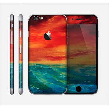 The Abstract Sunset Painting Skin for the Apple iPhone 6