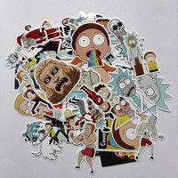 35Pcs/lot Drama Rick and Morty 2017 Stickers Decal For Snowboard Laptop Luggage Car Fridge DIY Styling Vinyl Home Decor Pegatina