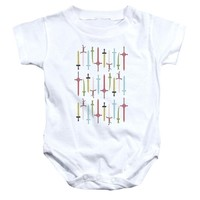 Adventure Time - Swords Infant Snapsuit Officially Licensed Baby Clothing