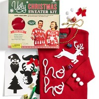 Junior Women's Ugly Christmas Sweater Solid Make-Your-Own Sweater Kit