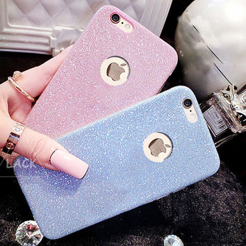 Flash Glitter TPU Cute Candy Case For iphone 7 Case For iphone7 6 6S Plus 5 5S SE Phone Cases Crystal Bling Soft Back Cover Capa
