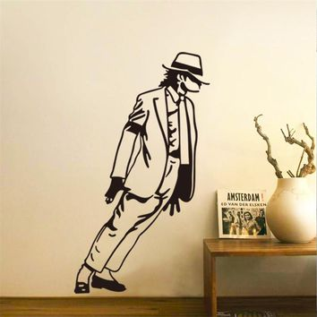 Dancing Michael Jackson boy girl fans bedroom decor Wall Sticker decals poster Home Decor Music handsome gift