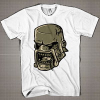 Barbarian King Face  Mens and Women T-Shirt Available Color Black And White