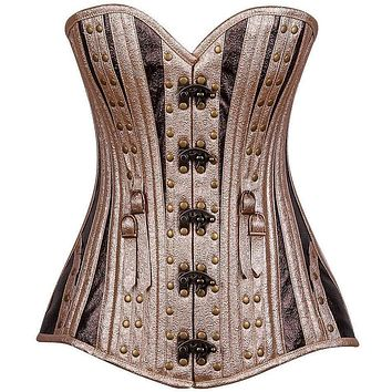 Daisy Corsets Top Drawer Faux Leather Steel Boned Corset