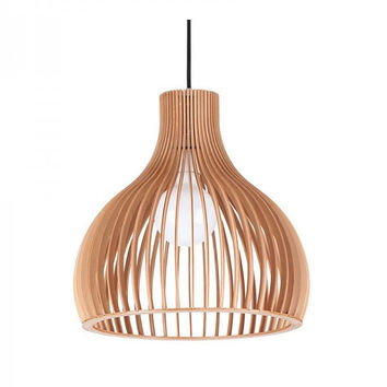 Semicircle Living Room Pendant Lighting Made From Wood
