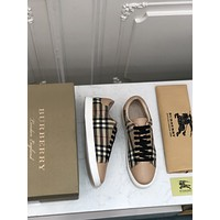 BURBERRY Men Fashion Boots fashionable Casual leather Breathable Sneakers Running Shoes0502ff