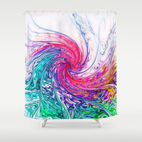 True Colours Shower Curtain by Ally Coxon