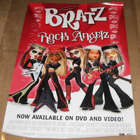 Bratz Rock Angels Movie Poster 27x40  Used
