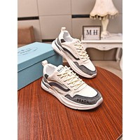 prada men fashion boots fashionable casual leather breathable sneakers running shoes 187