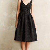 Embossed Jacquard Party Dress by JILL Jill Stuart Black Motif