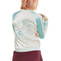 Studio Ghibli Her Universe Spirited Away Haku Satin Bomber Jacket
