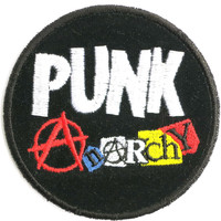 Anarchy Punk Rock Sew On Embroidered Badge Patch