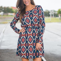 No Stopping Me Dress, Navy
