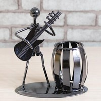 Popular Creative Metal Pen Holder Vase Pencil Pot Stationery Desk Tidy Container Office Stationery Supplier Cusiness Craft Gift