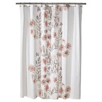 """Blooms Flat Weave Shower Curtain (72""""x72"""") Coral - Threshold™"""