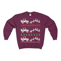 jeep ugly christmas sweatshirt