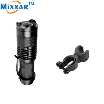 ZK57 Mini Cree Q5 2000lm Led Outdoor Zoomable Light Lamp Bicycle Front Flashlight Torch Bike Frame Holder Mountain Bike Frame
