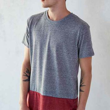 ALTERNATIVE Eco Jersey Drop-Tail Curved Hem Tee Shirt-
