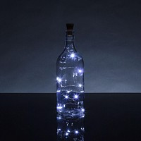 3 Ft 10 Super Bright Cool White LED Solar Operated Wine Bottle lights With Cork DIY Fairy String Light For Home Wedding Party Decoration
